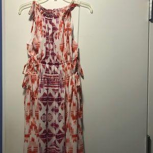 Maggy London halter maxi dress